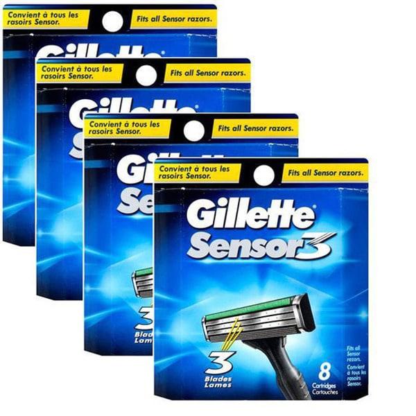Gillette 8-count Sensor3 Refill Cartridges (Pack of 4)