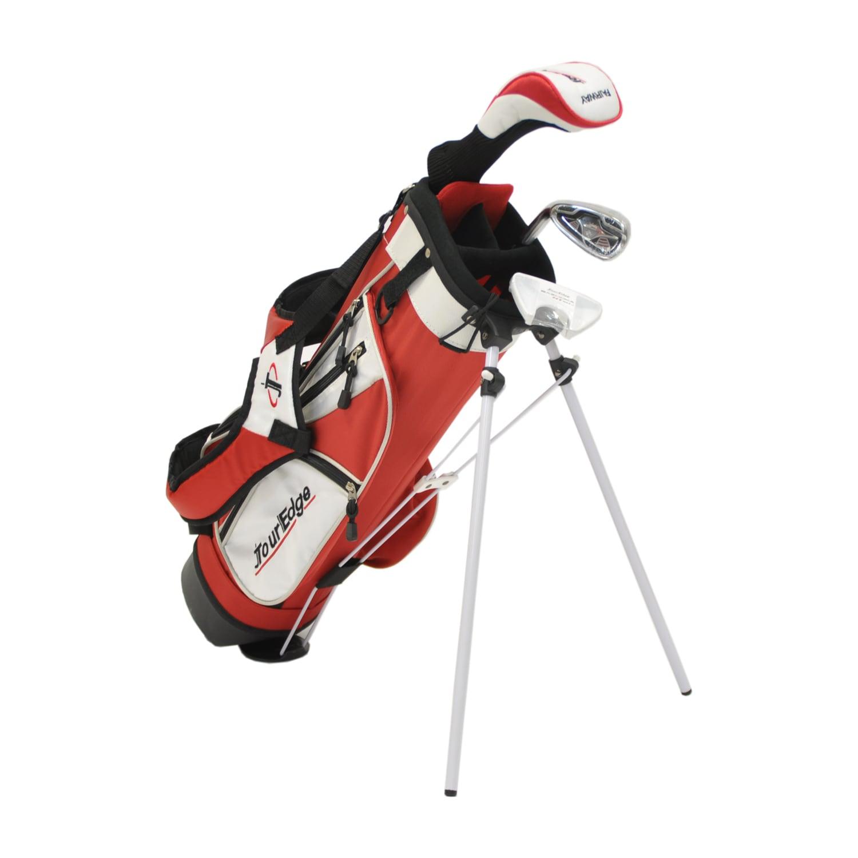 Shop Tour Edge Golf Ht Max J Jr 2x1 Red Left Handed Golf Set With Bag Overstock 6804222