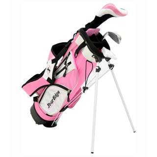Tour Edge Junior HT Max-J 2x1 Golf Set with Dual Strap Stand Bag|https://ak1.ostkcdn.com/images/products/6804230/6804230/Tour-Edge-HT-Max-J-Girls-Junior-Four-piece-Golf-Set-with-Bag-P14338642.jpeg?impolicy=medium