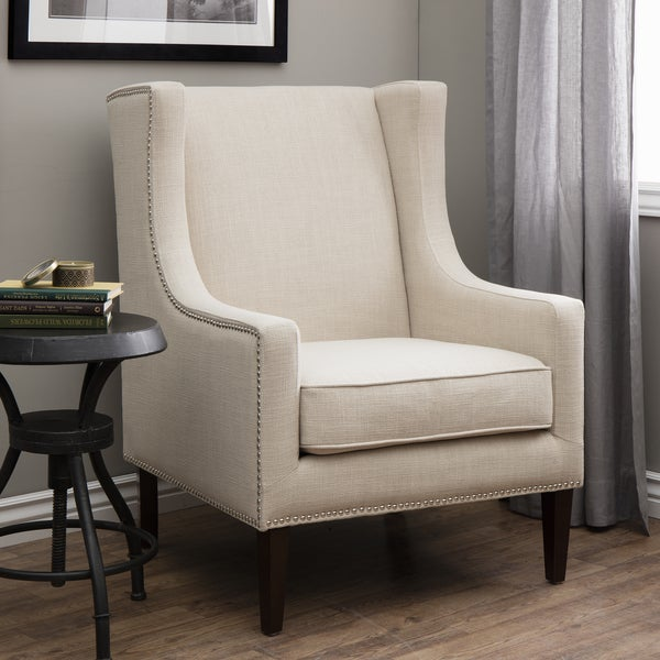 cream wingback armchair whitmore lindy wingback chair free shipping today 13632 | Whitmore Lindy Wingback Chair f7193d85 52d6 406c 8a9d d4e49d1e4ee1 600