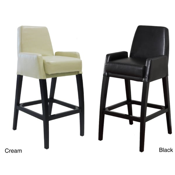 Bicast Leather Statonary Barstool