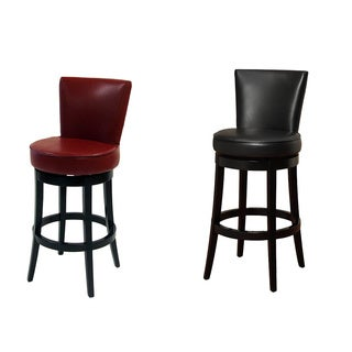 Elegant Swivel Leather Barstool