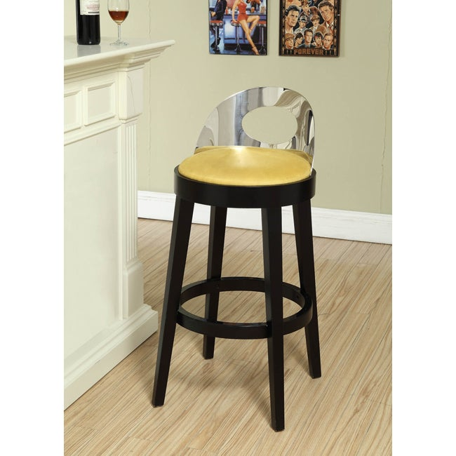 Yellow Stationary Barstool