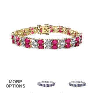 Malaika Silver Gemstone Bracelet