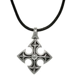 Carolina Glamour Collection Stainless Steel Medieval Cross Celtic Necklace