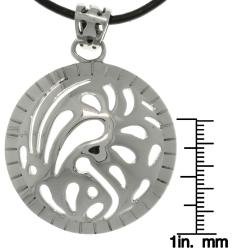 Carolina Glamour Collection Stainless Steel Designer Domed Circle Necklace