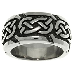 Carolina Glamour Collection Stainless Steel Celtic Knotwork 'Luck' Band