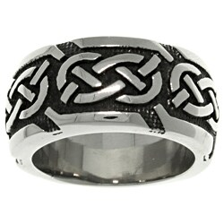 Carolina Glamour Collection Stainless Steel Celtic Knotwork 'Luck' Band (5 options available)