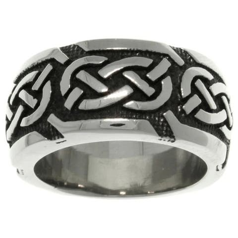Stainless Steel Celtic Knotwork 'Luck' Band