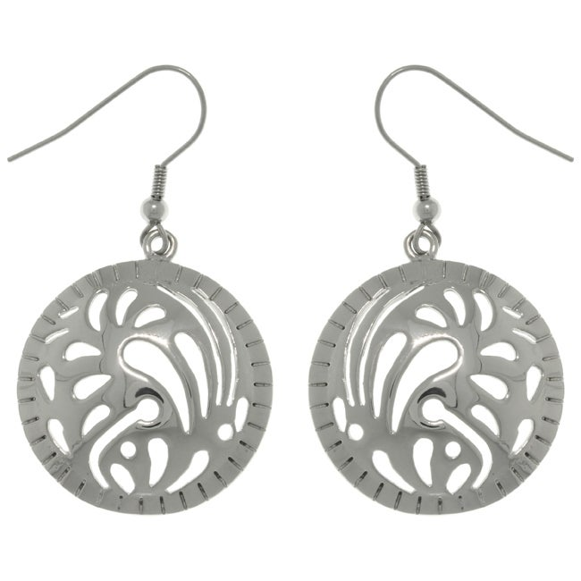 Carolina Glamour Collection Stainless Steel Designer Dome Circle Earrings