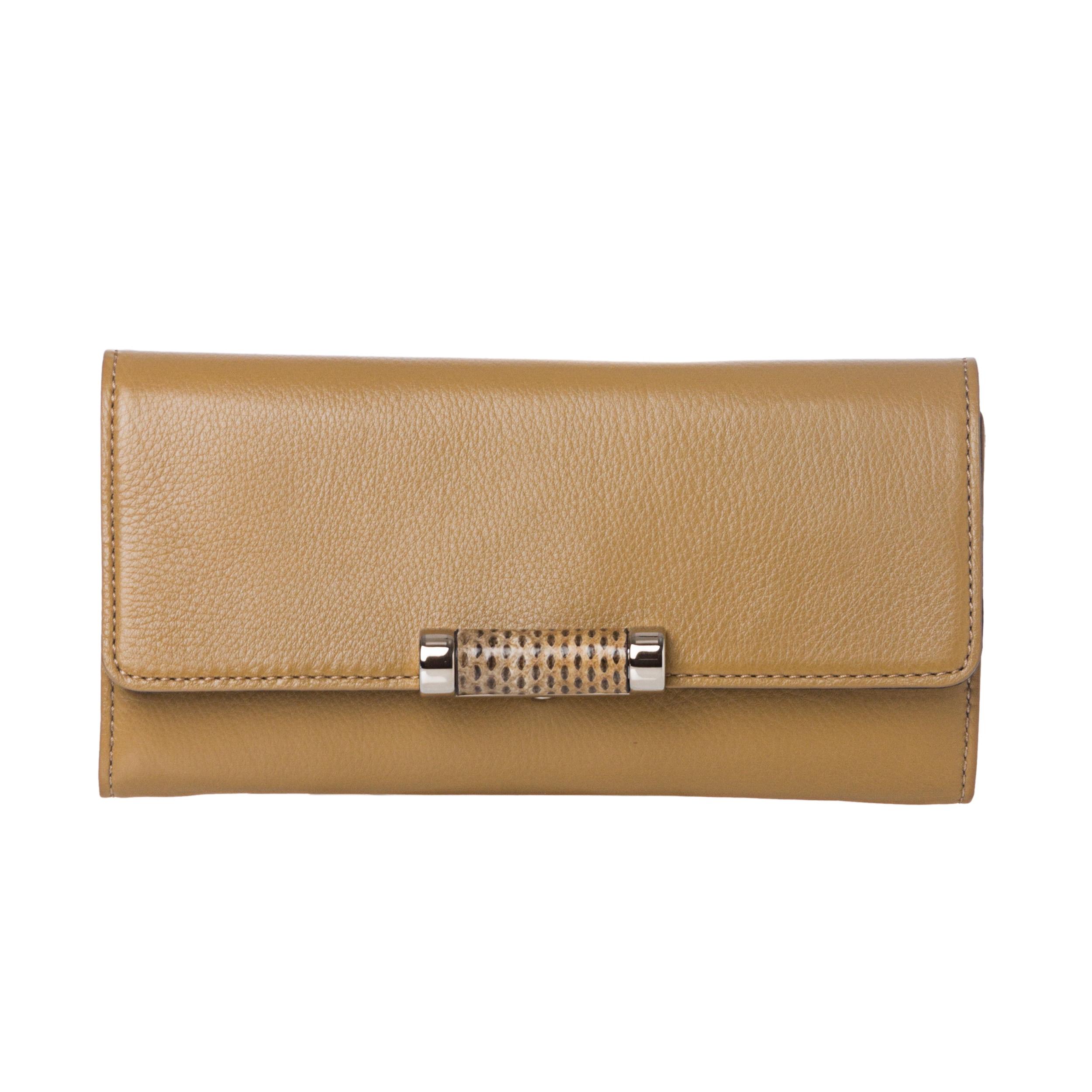 Michael Kors 'Tonne' Beige Leather Continental Wallet