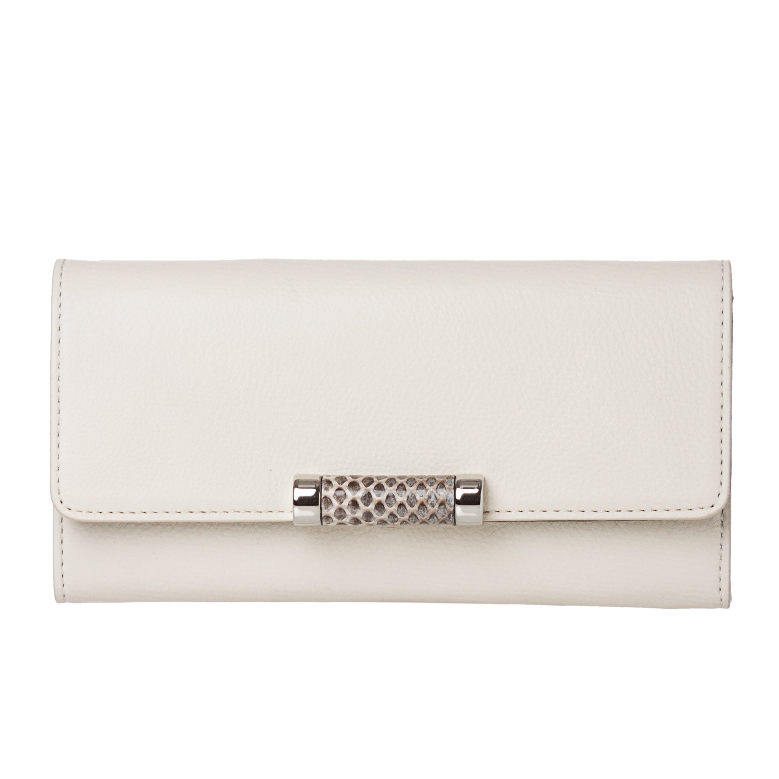 Michael Kors 'Tonne' White Leather Continental Wallet
