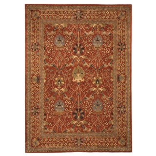 "Hand-tufted Wool Rust Traditional Oriental Morris Rug - 9'6"" x 13'6"""