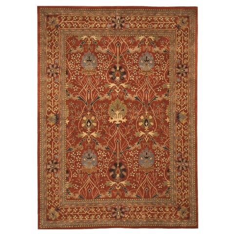 Hand-tufted Wool Rust Traditional Oriental Morris Rug - 9'6 x 13'6