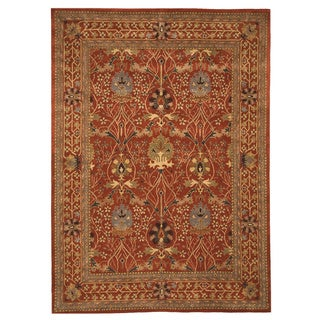 Hand-tufted Wool Rust Traditional Oriental Morris Rug (9'6 x 13'6)