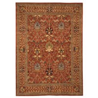 Hand-tufted Wool Rust Traditional Oriental Morris Rug (9'6 x 13'6) - 9'6 x 13'6