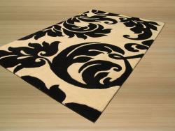 Hand Tufted Yves Ivory Wool Rug (4' x 6') - Thumbnail 1