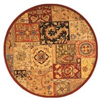 EORC T54RD Hand-tufted Red Wool Lasi Rug (6' Round) - 6'