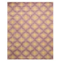 Hand-tufted Wool Purple Contemporary  Paris Rug (5' x 8') - 5' x 8'
