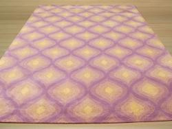 Hand-tufted Wool Purple Contemporary  Paris Rug (7'9 x 9'9)