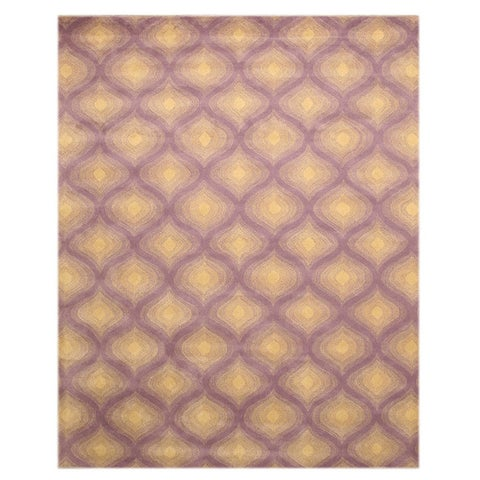 "Hand-tufted Wool Purple Contemporary Paris Rug (7'9 x 9'9) - 7'9"" x 9'9"""