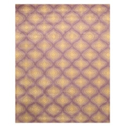 EORC Hand-tufted Wool Purple Paris Rug (7'9 x 9'9)