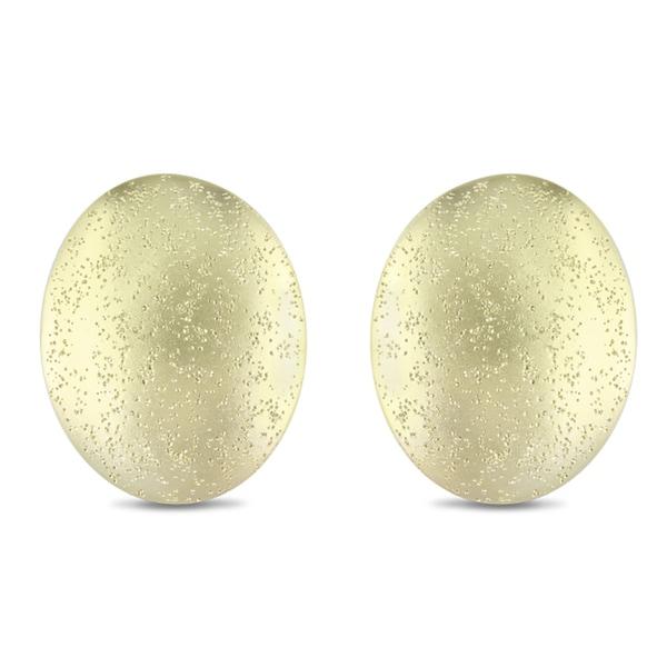 Miadora 18k Goldplated Oval Earrings