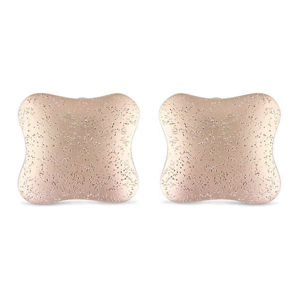 Miadora Gold-Plated Cushion-Shaped Earrings. Opens flyout.