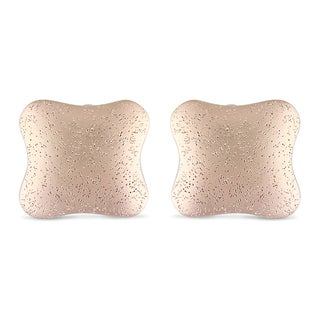 Miadora Gold-Plated Cushion-Shaped Earrings