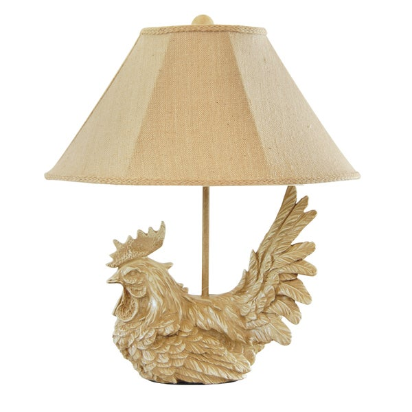 Somette Large Classic Rooster Table Lamp Free Shipping