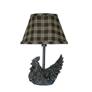 Somette Mini Black Rooster Accent Lamp