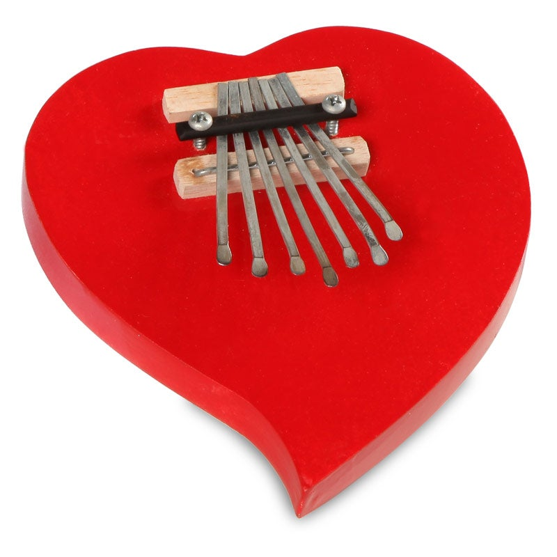 Handmade Heart Kalimba Thumb Piano (Indonesia)