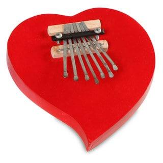 Handmade Heart Kalimba Thumb Piano (Indonesia)