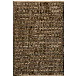 Handwoven Transitional Beige Jute Rug - 8' x 11' - Thumbnail 0