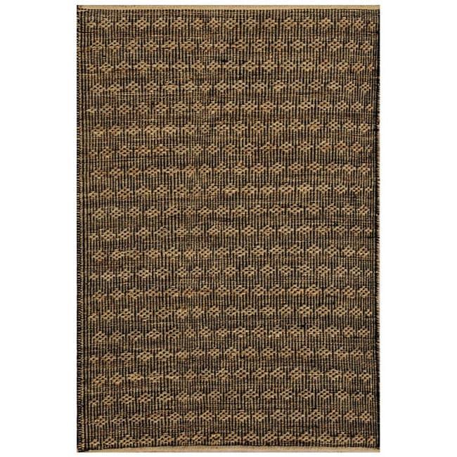 Hand-woven Beige Jute Rug (5' x 8') - 5' x 8'