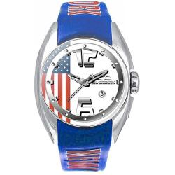 Chronotech Kids' White Dial Leather Date Quartz Watch with New York Strap