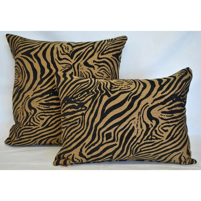 Sherry Kline Jungle Zebra Combo Pillows (Set of 2)