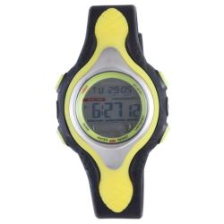 Diadora Men's Dual Time Grey Dial Rubber Alarm Watch