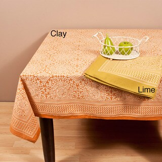"Saro Printed Design Tablecloth (80'' x 80"")"