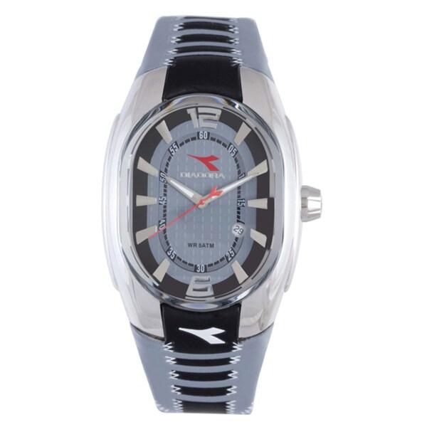 Diadora Men's Grey Dial Rubber Band Watch