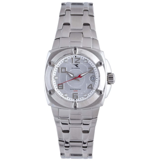 Diadora Women's Silver Dial Stainless Steel Date Watch