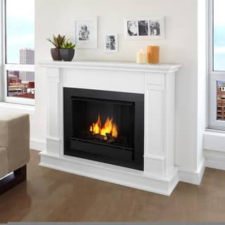 Real Flame Silverton White 48 in. L x 13 in. D x 41 in. H Ventless Gel Fireplace|https://ak1.ostkcdn.com/images/products/6805712/P14339763.jpg?impolicy=medium