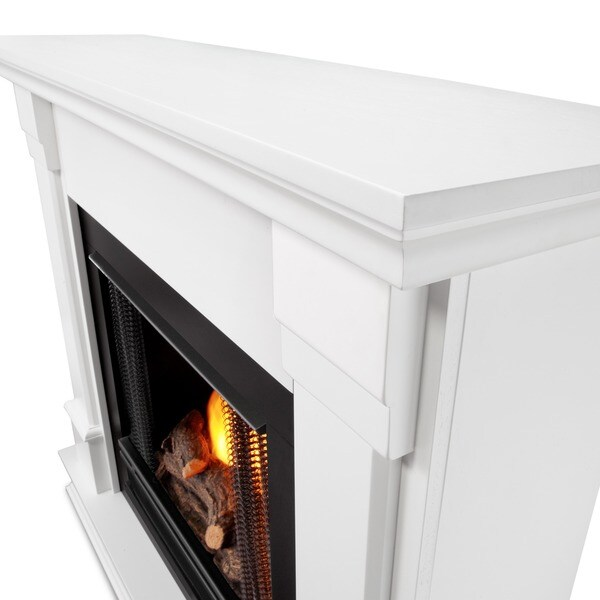 Real Flame Silverton White 48 in. L x 13 in. D x 41 in. H Ventless ...