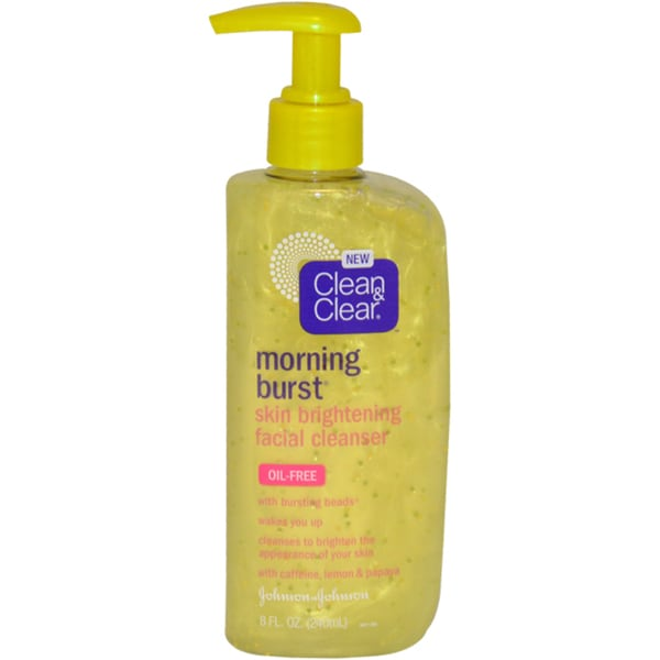 Clean & Clear Morning Burst Skin Brightening 8-ounce Facial Cleanser