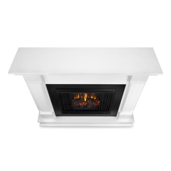 Real Flame Silverton White 48 in. L x 13 in. D x 41 in. H Electric ...