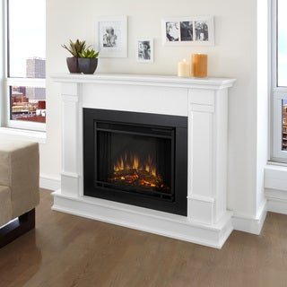 Real Flame Silverton White 48 In. L X 13 In. D X 41 In