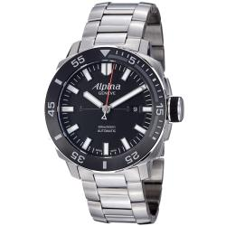Alpina Men's 'Adventure' Black Dial Stainless Steel Automatic Watch
