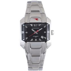 Diadora Women's Black-Dial Stainless-Steel Quartz Date Watch