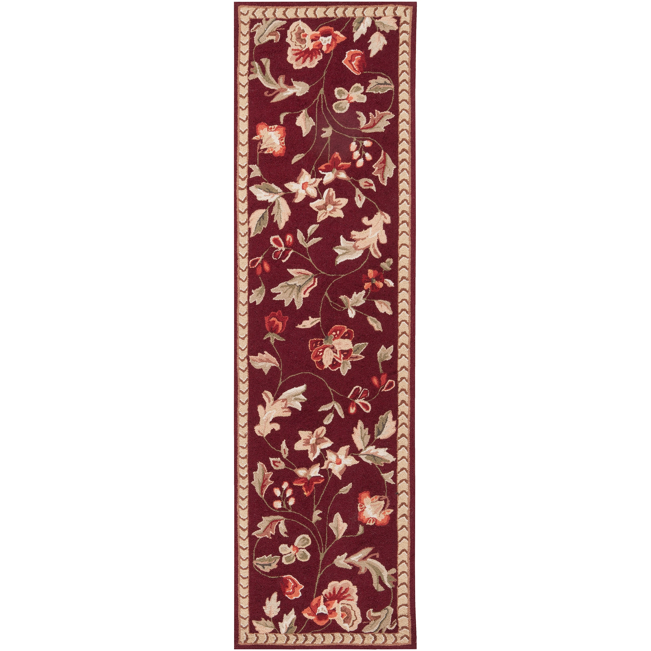 Hand-hooked Multicolored Flaude Wool Rug (2'6 x 4')