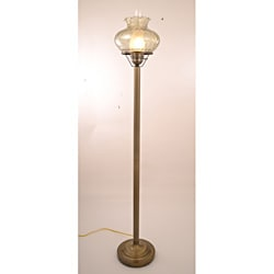 Hurricane With Rhombus Green Glass Floor Lamp - Thumbnail 0